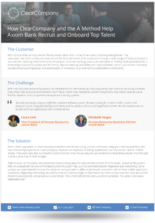 Axiom Bank case study