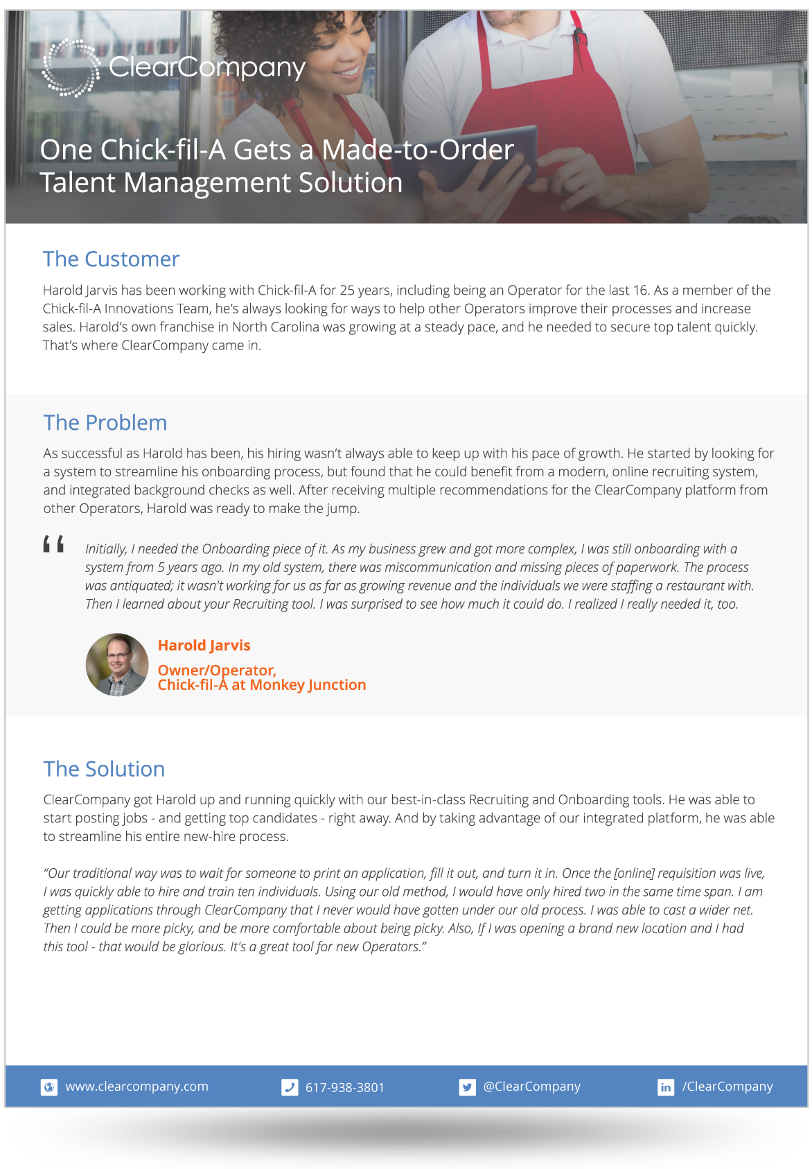Examples of talent management success clearcompany chick fil a case study falaconquin