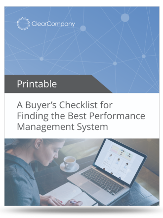 performance management buyers checklist