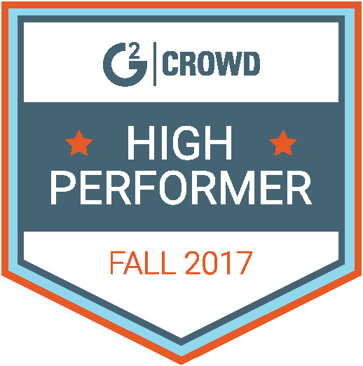 G2 Crowd Fall 2017 High Performer Badge