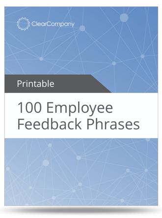 employee feedback phrases