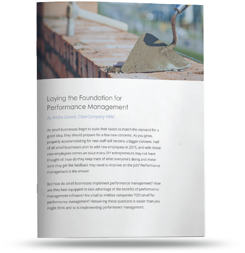 Performance management foundation guide