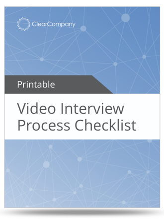 video interview process checklist
