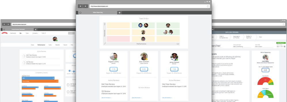 Performance Management System mockup