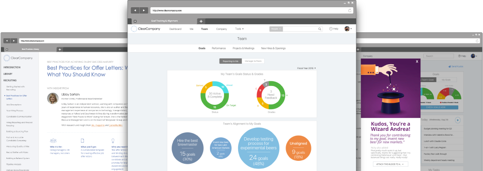 Talent management tools screenshot