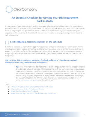 hr department audit checklist