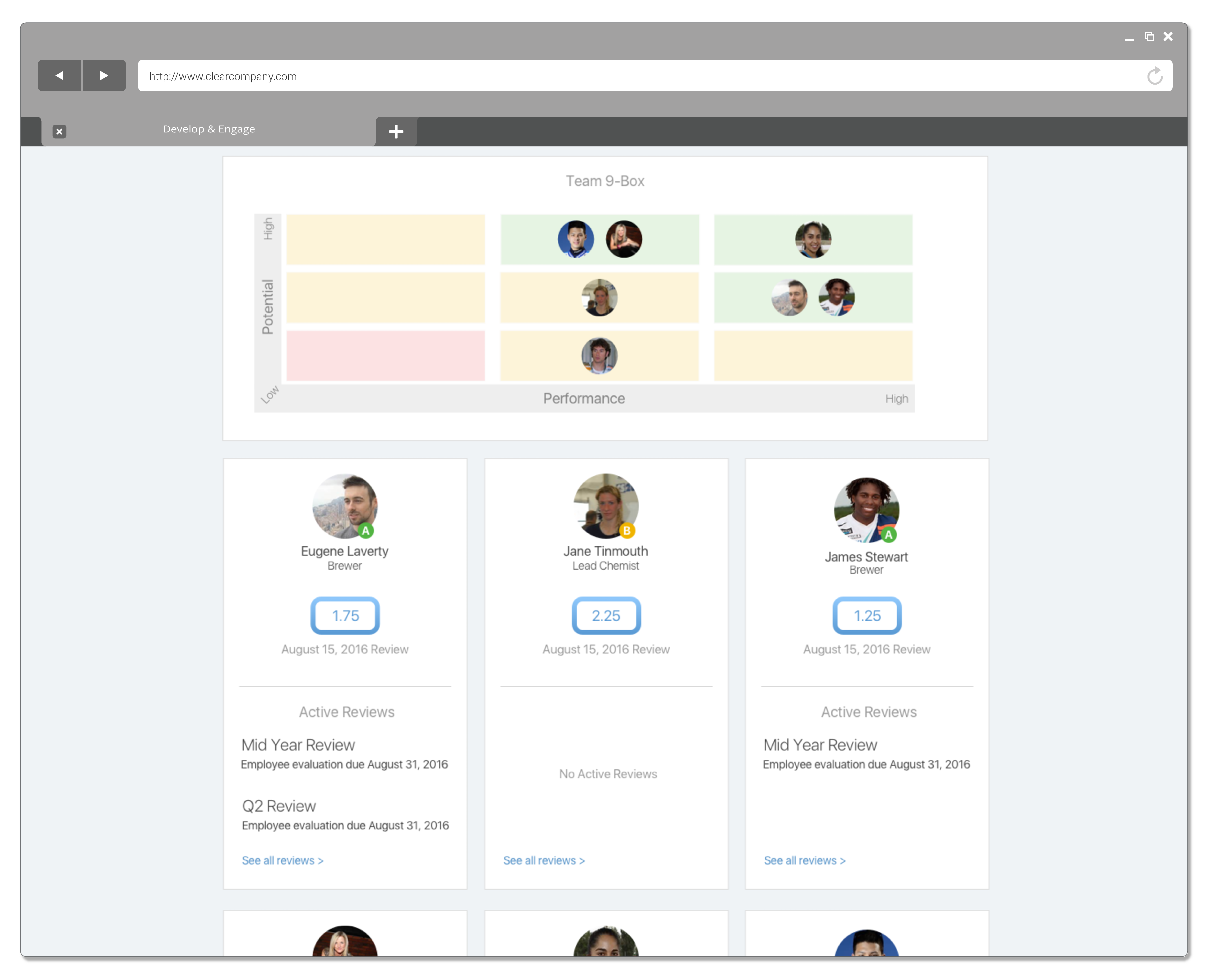 develop and engage your team screenshot