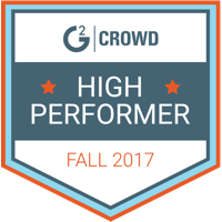 G2 Crowd High Performer Fall 2017